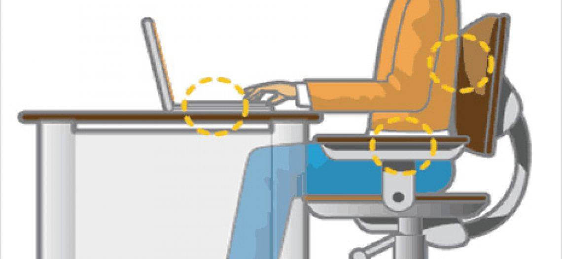 Các tư thế ngồi bên máy tính giúp người dùng không mỏi