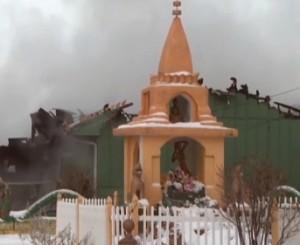 Ngôi chùa sau hỏa hoạn