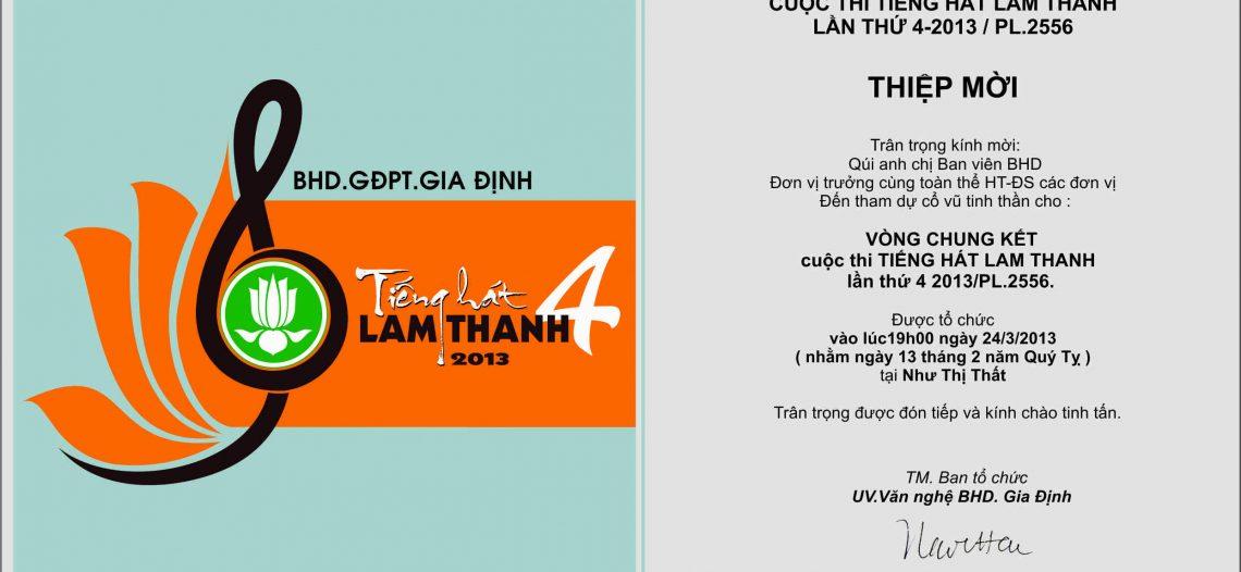 [Thư mời] Vòng chung kết cuộc thi TIẾNG HÁT LAM THANH 04