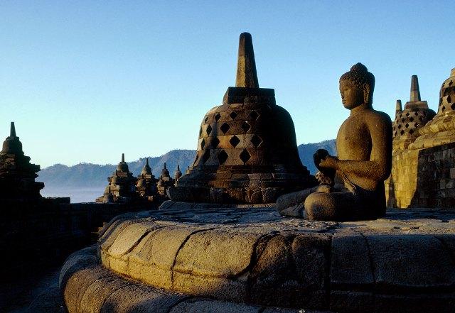 Một góc Borobudur.