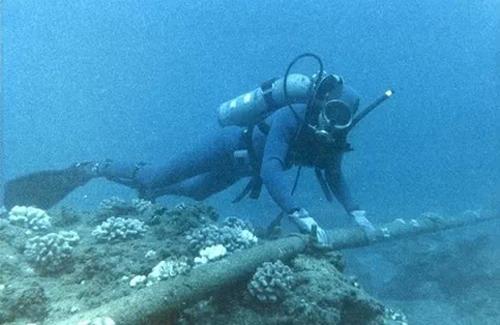 Cáp quang đứt có thể do động đất hoặc tàu thả neo trúng.